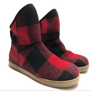 Indigo• Buffalo Plaid Flannel Boot• 8.5